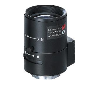 Варифокален обектив с фиксиран ирис за Box камери