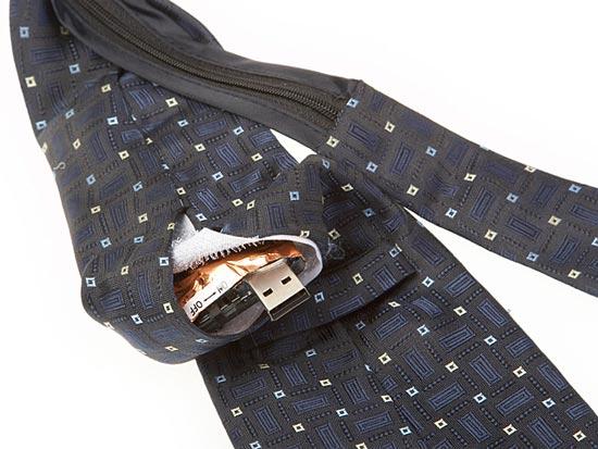 Вратовръзка с врадена камера и видеорекордер за записване на видео